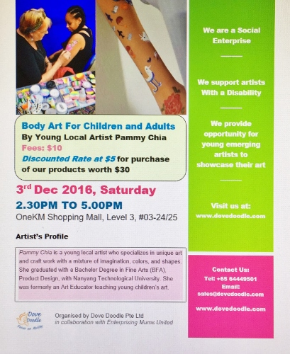 'Body Art Painting Activity' by young local artist Pammy Chia